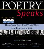 Cover of: Poetry Speaks | Elise Paschen