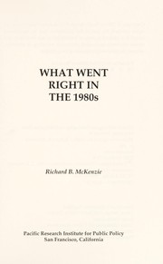 Cover of: What went right in the 1980s