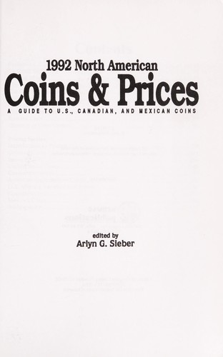 1992 North American coins & prices by Arlyn G. Sierber