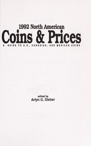 Cover of: 1992 North American coins & prices | Arlyn G. Sierber