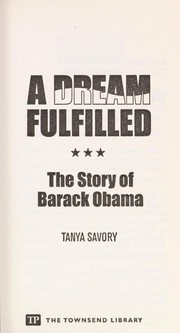 Cover of: A dream fulfilled | Tanya Savory