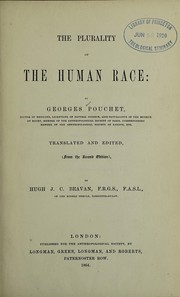 Cover of: The plurality of the human race