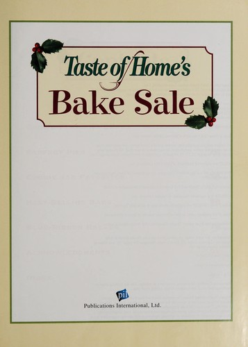 Taste of home's bake sale by
