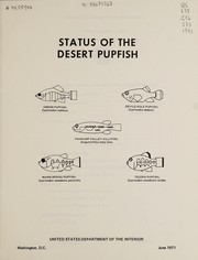 Cover of: Status of the desert pupfish | Craig Phillips