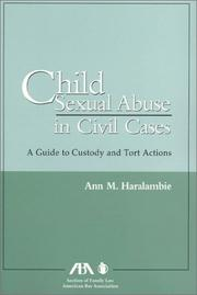 Cover of: Child sexual abuse in civil cases: a guide to custody and tort actions