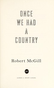 Cover of: Once we had a country