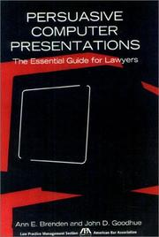 Cover of: Persuasive Computer Presentations