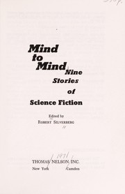 Cover of: Mind to Mind: nine stories of science fiction.