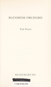 Cover of: Blenheim Orchard | Tim Pears