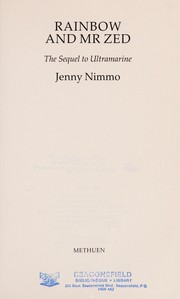 Cover of: Rainbow and Mr. Zed | Jenny Nimmo