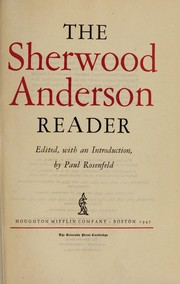 Cover of: The Sherwood Anderson reader