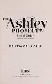 Cover of: Social order | Melissa De la Cruz
