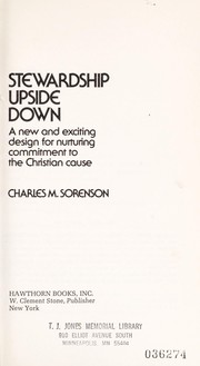 Cover of: Stewardship upside down | Charles M. Sorenson