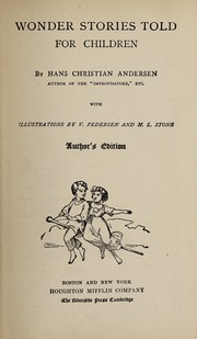Cover of: Wonder stories told for children