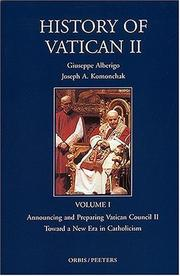 Cover of: History of Vatican II |