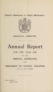 Cover of: [Report 1930] | West Bromwich (England). Council