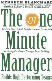 Cover of: The One Minute Manager Builds High Performance Teams (One Minute Manager)