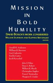Cover of: Mission in Bold Humility |