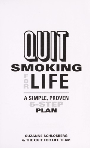 Quit smoking for life by Suzanne Schlosberg