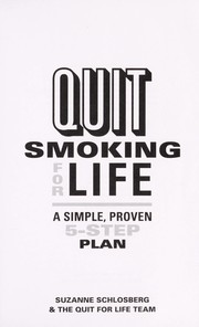 Cover of: Quit smoking for life | Suzanne Schlosberg