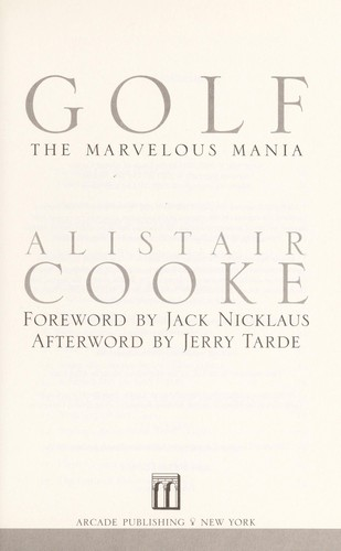 Golf by Alistair Cooke