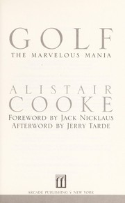 Cover of: Golf | Alistair Cooke