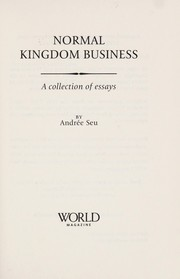 Cover of: Normal kingdom business