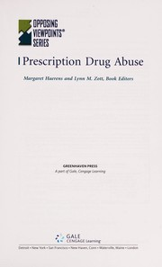 Cover of: Prescription drug abuse | Margaret Haerens