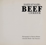 Cover of: James McNair's beef cookbook