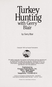 Cover of: Turkey hunting with Gerry Blair