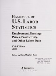 Cover of: Handbook of U.S. labor statistics | Mary Meghan Ryan