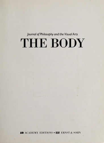 The body by [edited by Andrew Benjamin].