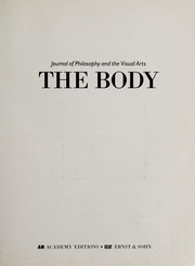 Cover of: The body | [edited by Andrew Benjamin].