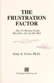 Cover of: The frustration factor