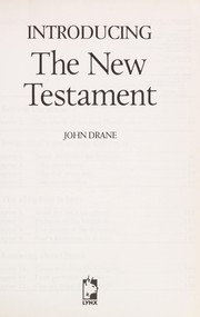 Introducing the New Testament.