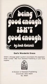 Cover of: Being good enough isn't good enough