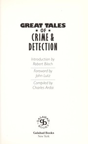 Cover of: Great Tales of Crime and Detection