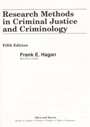 Cover of: Research methods in criminal justice and criminology | Frank E. Hagan