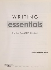 Cover of: Writing essentials for the pre-GED student
