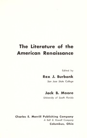 Cover of: The literature of the American renaissance. | Rex J. Burbank