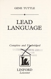 Cover of: Lead Language | Gene Tuttle