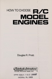 Cover of: How to choose R/C model engines