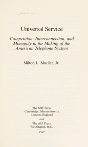 Cover of: Universal service