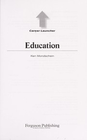 Cover of: Education | Ken Mondschein