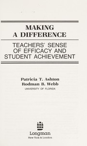 Cover of: Making a difference | Patricia T. Ashton
