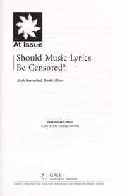 Cover of: Should music lyrics be censored? | Beth Rosenthal