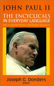 Cover of: John Paul II: the encyclicals in everyday language