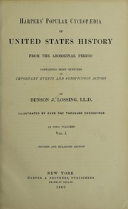 Cover of: Harpers' popular cyclopaedia of United States history