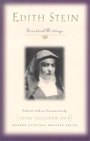 Cover of: Edith Stein (St. Teresa Benedicta of the Cross, O.C.D.)