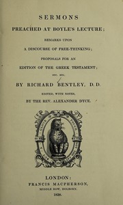 Cover of: Sermons preached at Boyle's lecture